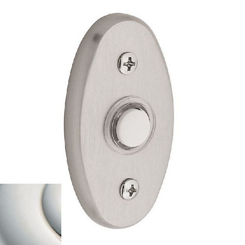 Baldwin 4858 Bell Button, Polished Nickel with Lifetime