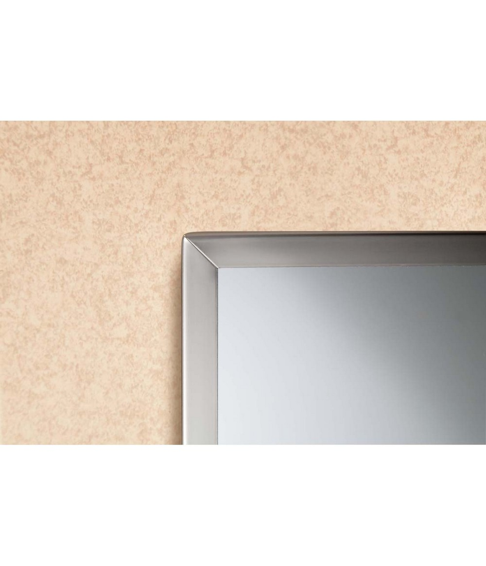 Bobrick b 1658 2436 tempered glass channel frame mirrors for Mirror 24 x 36