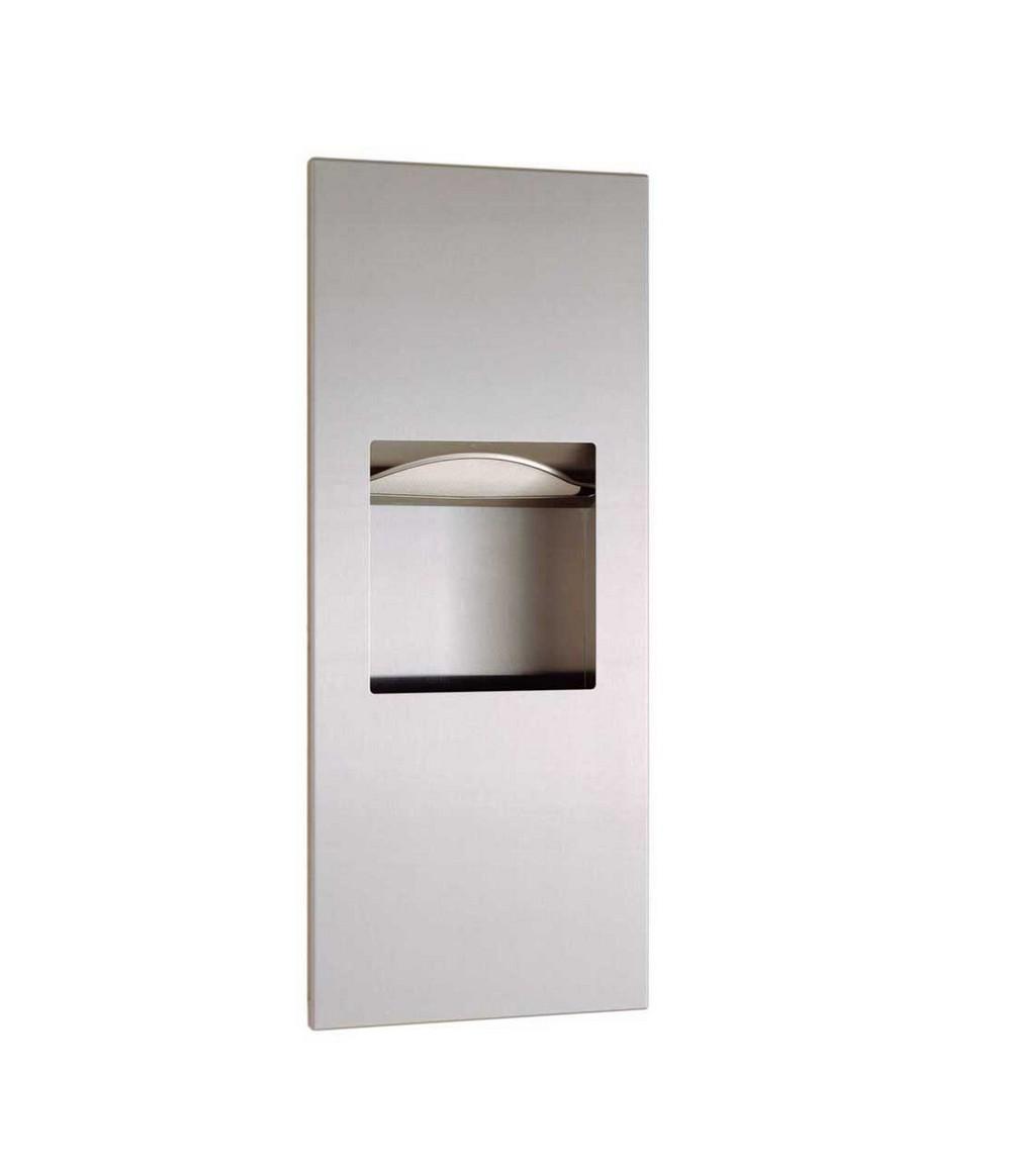 Bobrick b 36903 paper towel dispenser waste receptacle for Home bathroom towel dispenser