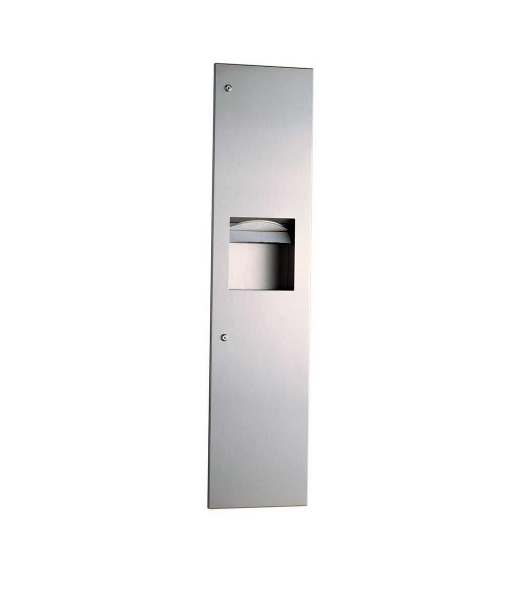 Bobrick b 380349 paper towel dispenser waste receptacle for Home bathroom towel dispenser