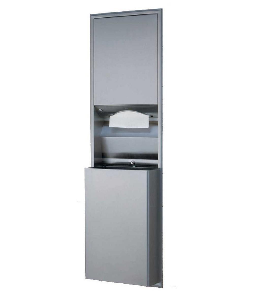 Bobrick B 3942 Paper Towel Dispenser Waste Receptacle