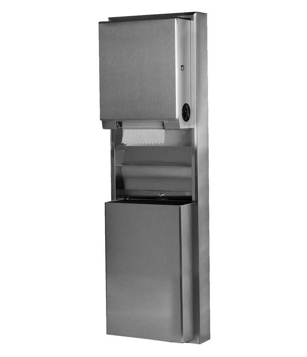 Bobrick B 39619 Paper Towel Dispenser Waste Receptacle
