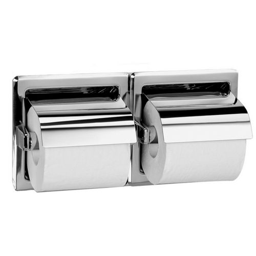 Bradley 5123-000000 Toilet Tissue Dispenser, Recessed, Dual