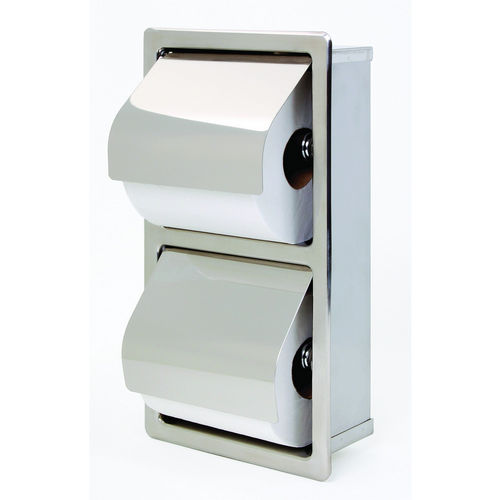 Bradley 5127-000000 Toilet Tissue Dispenser, Recessed, Dual
