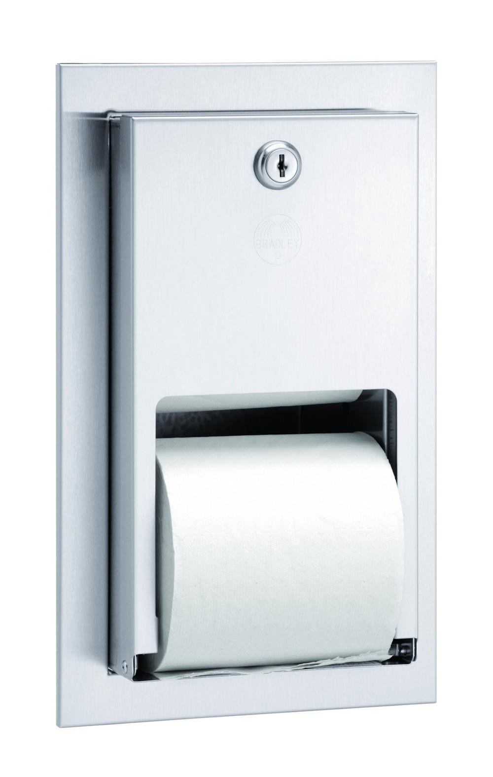 Bradley 5412 000000 Toilet Tissue Dispenser Recessed Dual