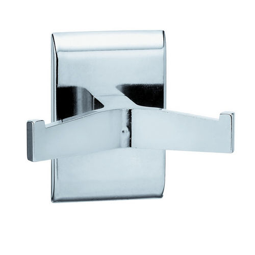 Bradley 912-000000 Robe Hook, Double, Chrome Plated