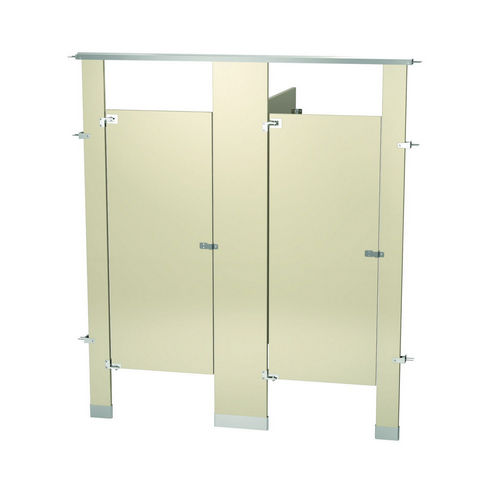 Bradley BW23660-ALM Locker Powder Coat, Two Between Wall, Almond