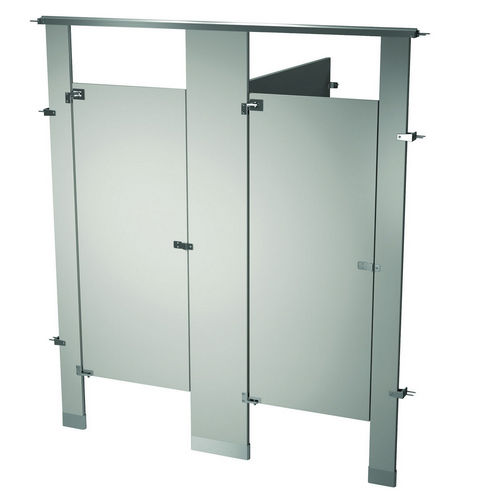 Bradley BW23660-WGR Locker Powder Coat, Two Between Wall, Warm Gray