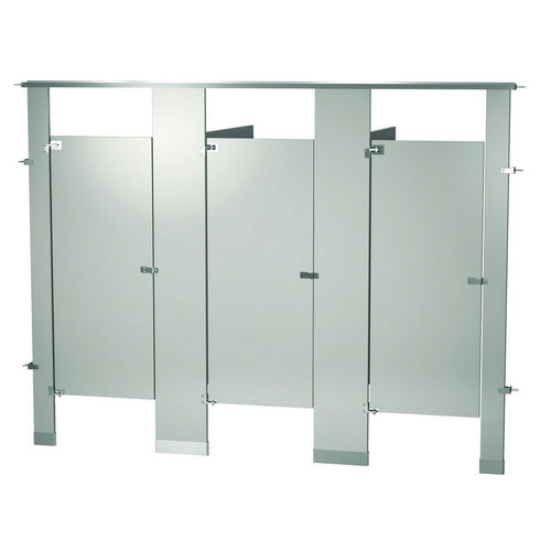 Bradley BW33660-WGR Locker Powder Coat, Three Between Wall, Warm Gray