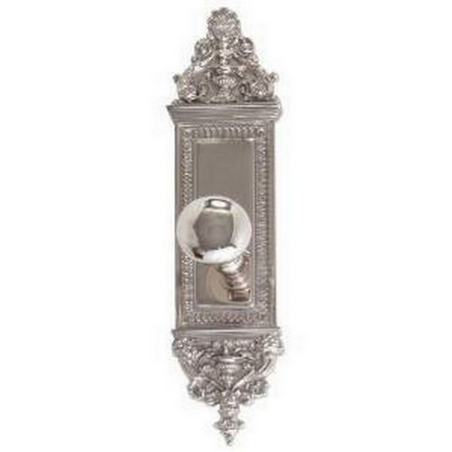 Brass Accents D04-K522D-NET Renaissance Collection Door Plate Set, Satin Nickel