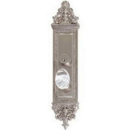 Brass Accents D04-K523D-GTN Renaissance Collection Door Plate Set, Satin Nickel