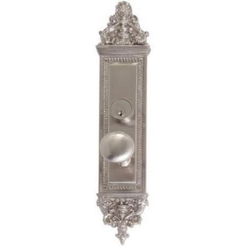 Brass Accents D04-K523G-NET Renaissance Collection Door Plate Set, Satin Nickel