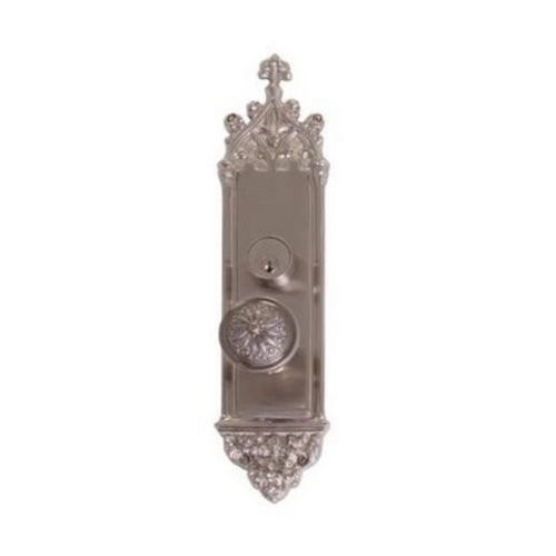 Brass Accents D04-K560G-HLS Renaissance Collection Door Plate Set, Satin Nickel