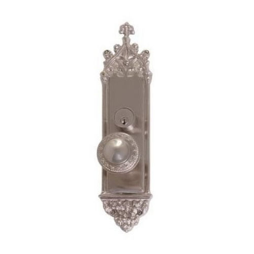 Brass Accents D04-K560G-LRL Renaissance Collection Door Plate Set, Satin Nickel