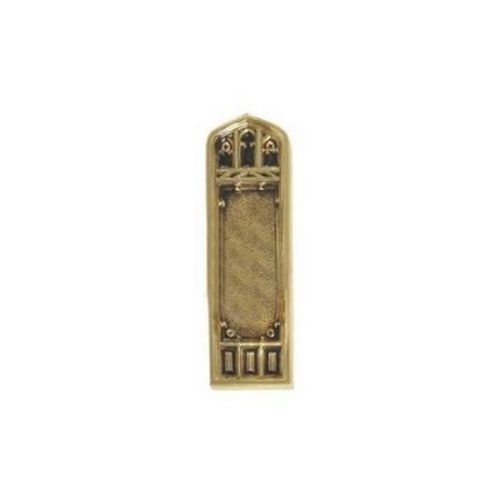 Brass Accents D04-K582D-LFT Renaissance Collection Door Plate Set, Highlighted Brass