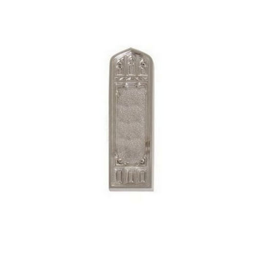Brass Accents D04-K582D-LFT Renaissance Collection Door Plate Set, Satin Nickel