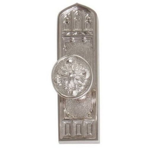 Brass Accents D04-K582D-MTL Renaissance Collection Door Plate Set, Satin Nickel