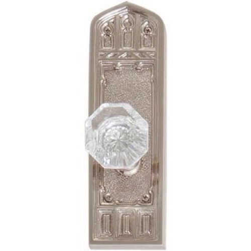 Brass Accents D04-K582G-LFT Renaissance Collection Door Plate Set, Satin Nickel