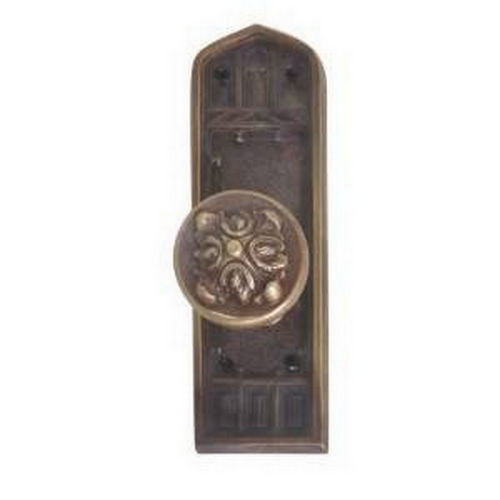 Brass Accents D04-K582G-MTL Renaissance Collection Door Plate Set, Highlighted Brass