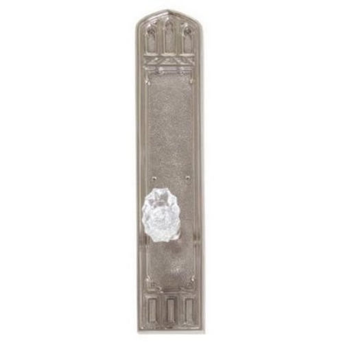 Brass Accents D04-K584D-SAV Renaissance Collection Door Plate Set, Satin Nickel