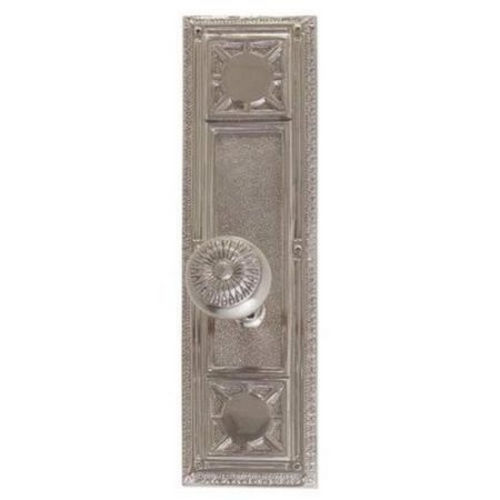 Brass Accents D04-K720D-SUN Renaissance Collection Door Plate Set, Satin Nickel