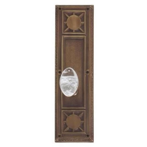 Brass Accents D04-K720G-GTN Renaissance Collection Door Plate Set, Aged Brass