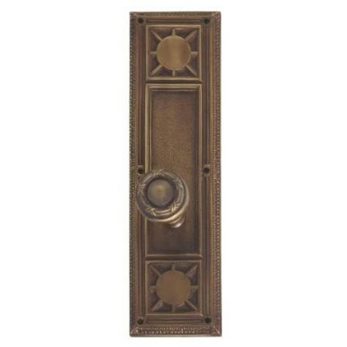 Brass Accents D04-K720G-RBN Renaissance Collection Door Plate Set, Aged Brass
