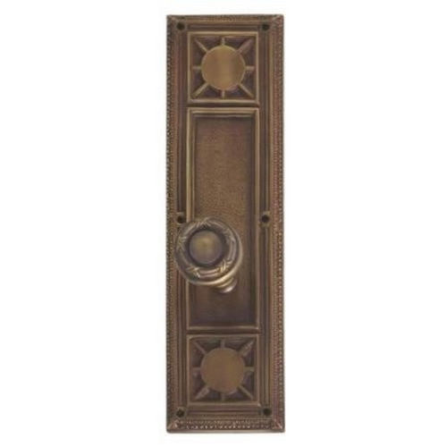 Brass Accents D04-K720G-RBN Renaissance Collection Door Plate Set, Highlighted Brass