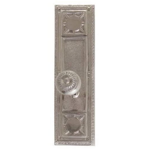 Brass Accents D04-K720G-SUN Renaissance Collection Door Plate Set, Satin Nickel