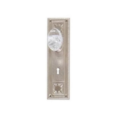 Brass Accents D04-K724D-GTN Renaissance Collection Door Plate Set, Satin Nickel