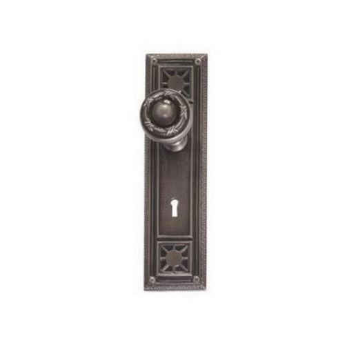 Brass Accents D04-K724D-RBN Renaissance Collection Door Plate Set, Aged Brass