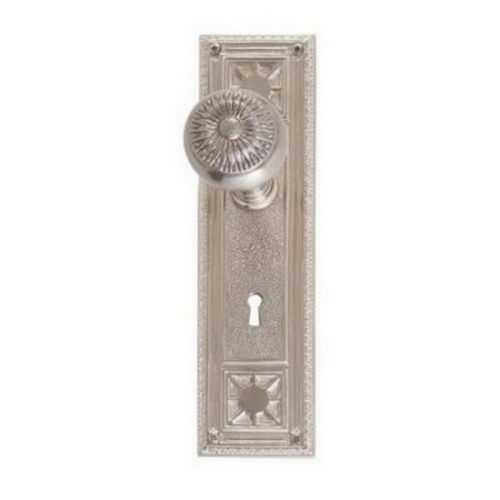 Brass Accents D04-K724D-SUN Renaissance Collection Door Plate Set, Satin Nickel