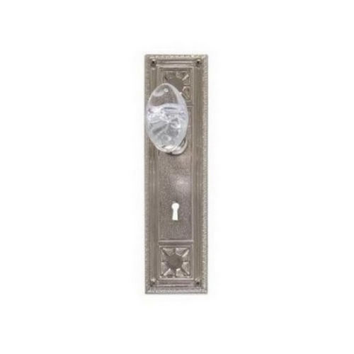 Brass Accents D04-K724G-GTN Renaissance Collection Door Plate Set, Satin Nickel