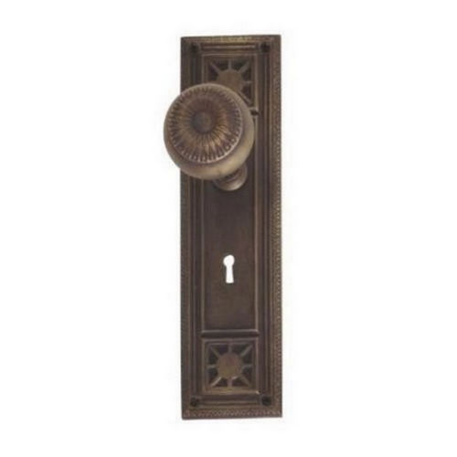 Brass Accents D04-K724G-SUN Renaissance Collection Door Plate Set, Satin Nickel