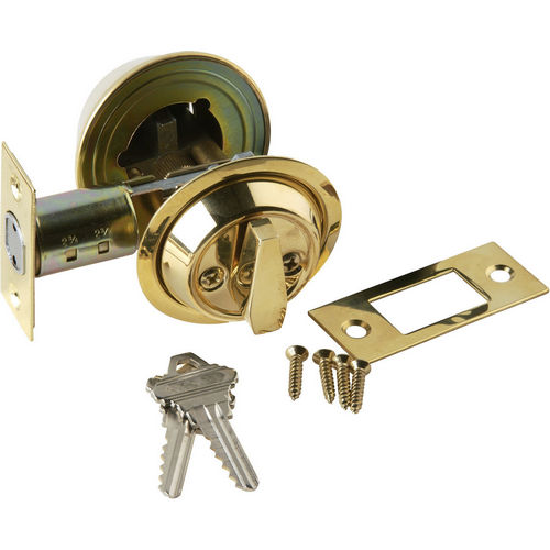 Brass Accents D09-D1510 Single Cylinder Deadbolt 2-3/8 or 2-3/4