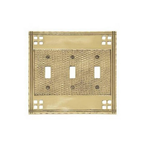 Brass Accents M05-S5650 Arts & Crafts Triple Switch 6-3/8