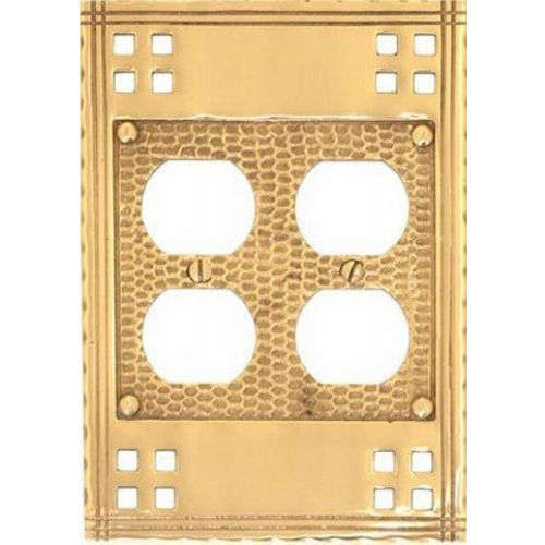Brass Accents M05-S5660 Arts & Crafts Double Outlet 4-1/2