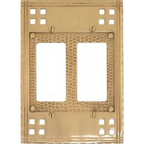 Brass Accents M05-S5670 Arts & Crafts Double GFCI 4-1/2