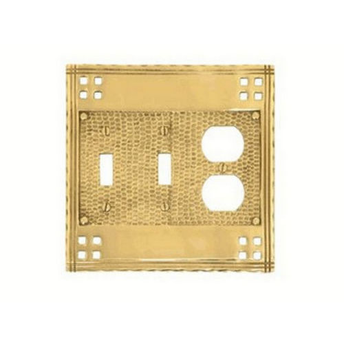 Brass Accents M05-S5680 Arts & Crafts Triple= 2 Switch & 1 Outlet 6-3/8