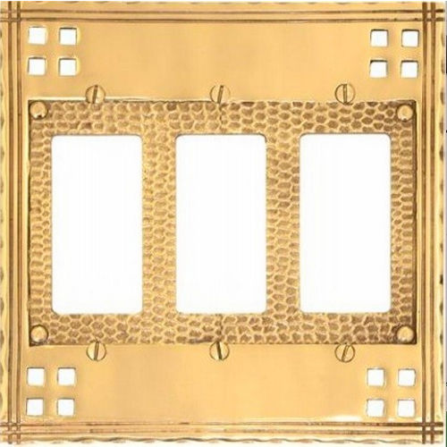 Brass Accents M05-S5690 Arts & Crafts Triple GFCI 6-3/8