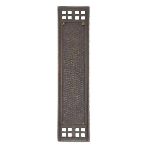 Brass Accents A05-P5350-613 Arts & Crafts Push Plate 2-1/2