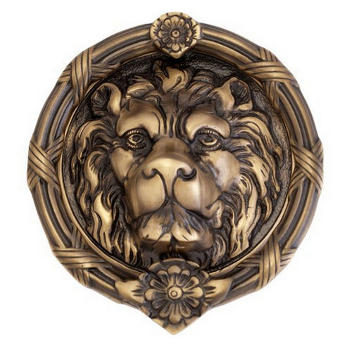 Brass Accents A07-K5100 Leo Lion Door Knocker 8-3/8