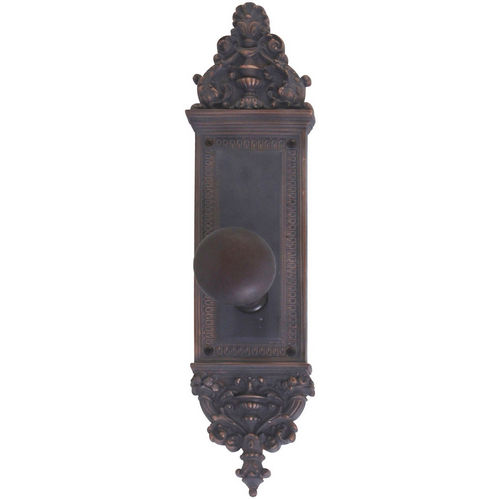 Brass Accents D04-K522A-NET Renaissance Collection Door Plate Set, Venetian Bronze