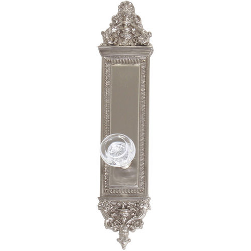 Brass Accents D04-K523A-EMP Renaissance Collection Door Plate Set, Satin Nickel