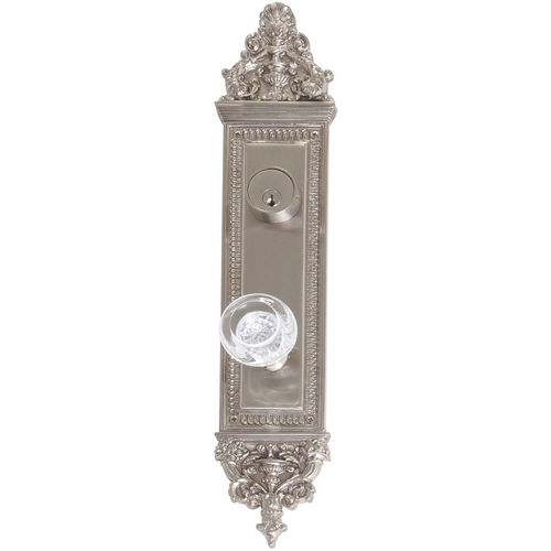 Brass Accents D04-K523J-EMP Renaissance Collection Door Plate Set, Satin Nickel