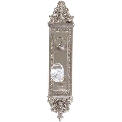 Brass Accents D04-K523J-GTN Renaissance Collection Door Plate Set, Satin Nickel