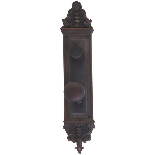 Brass Accents D04-K523J-NET Renaissance Collection Door Plate Set, Venetian Bronze