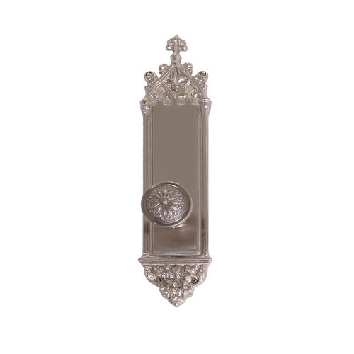 Brass Accents D04-K560A-HLS Renaissance Collection Door Plate Set, Satin Nickel