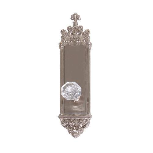 Brass Accents D04-K560A-HTF Renaissance Collection Door Plate Set, Satin Nickel