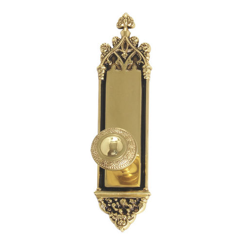 Brass Accents D04-K560A-LRL Renaissance Collection Door Plate Set, Highlighted Brass